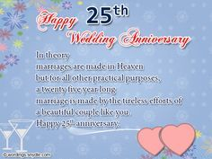 25th Wedding Anniversary Wishes, Messages and Wordings | Wordings and Messages