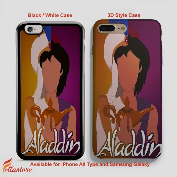 cool Disney Aladdin Half iPhone 7-7 Plus Case, iPhone 6-6S Plus, iPhone 5 5S SE, Samsung Galaxy S8 S7 S6 Cases and Other