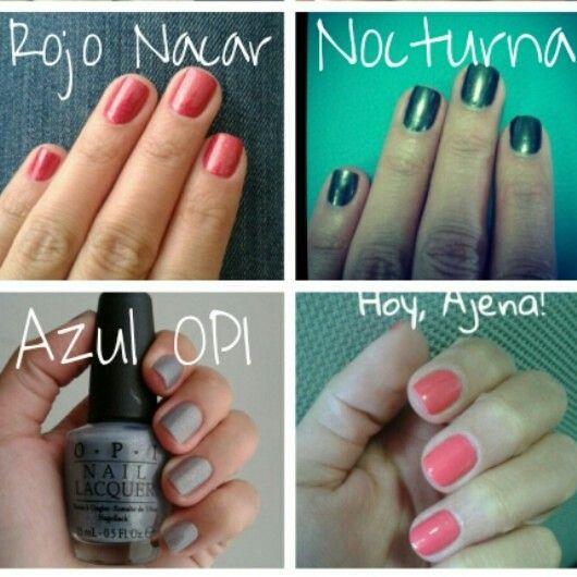 Rojo Nacar, Nocturna, Azul y Ajena