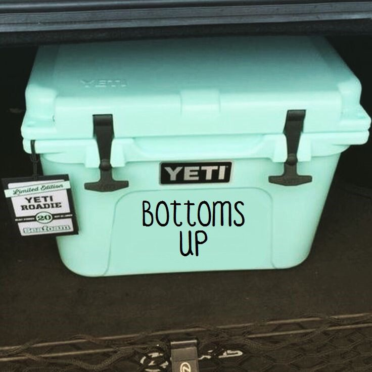 Bottoms Up Vinyl Decal - Cooler Decal - Bottoms Up Sticker - Cooler Vinyl Decal by AStitchofHappiness on Etsy (null)