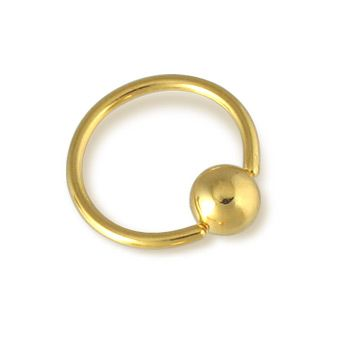 Gold Tone CBR / clit ring, 16 ga.  #helix #piercing #jewelry #earrings #bodyjewelry ♥ $6.99 via OnlinePiercingShop.com