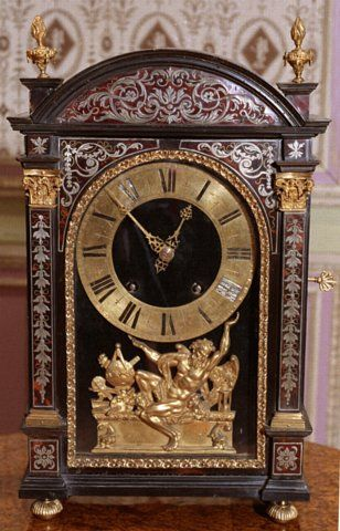Louis XIV Period Pendule Religieuse Clock, The Movement By Antoine Gaudron, The Case Attributed To Andre-Charles Boulle - French   c. Late 17th Century  (Louis XIV Period)