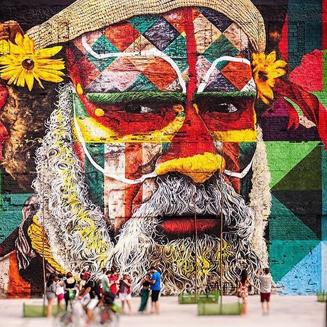 Eduardo Kobra, Etnias (dos cinco continentes), 2016, Boulevard Olímpico, Rio de Janeiro - RJ, Brasil