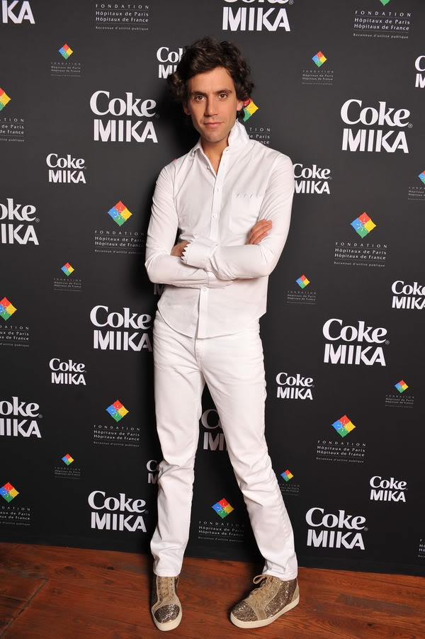 MIKA Coke Bottle Launch Designed by Mika - Concert Party - at 1515 Club on April 16, 2010 in Paris, France
