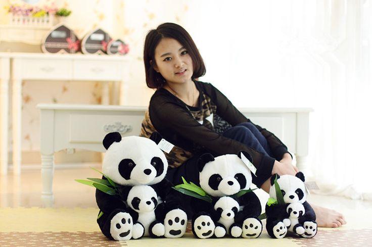 Около 25 см panda плюшевые игрушки мать и ребенок panda куклы подарок на день рождения w6694