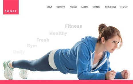 bootstrap gym template