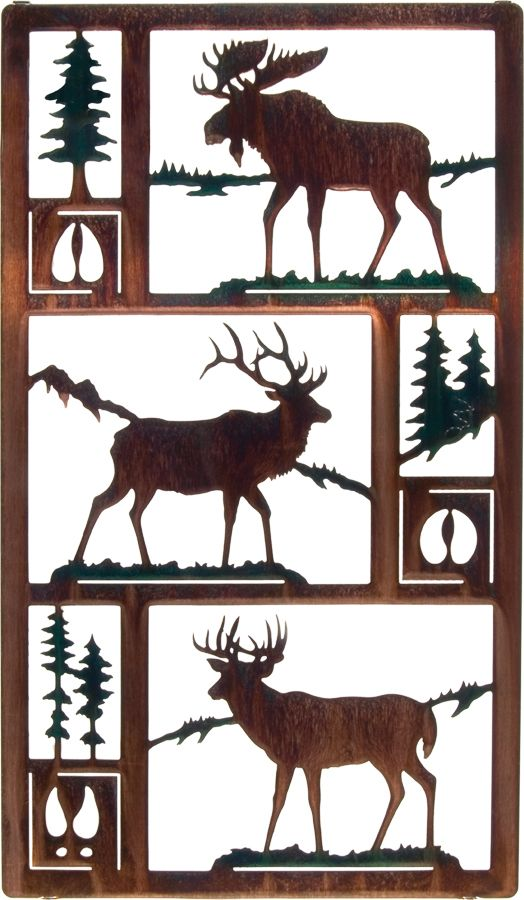 Moose and Frames Wall Art www.rusticeditions.com