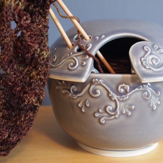 Possibly the most beautiful yarn bowl ever made. Ever.