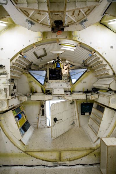 Interior of the Apollo Lunar Landing Module.