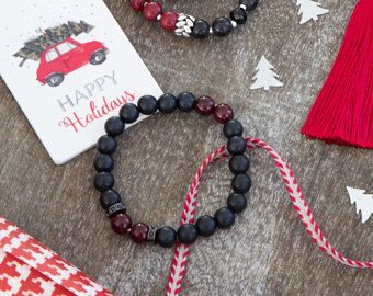 Magical festive black and red howlite 108 beaded bracelet with black metal strass charms, yoga gift, meditiation jewelry, pray, presents