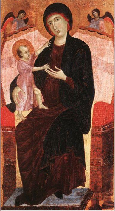 Дуччо ди Буонинсенья (1260-1318). Мадонна Gualino. 1280-1283. Дворец Академии наук. Турин.