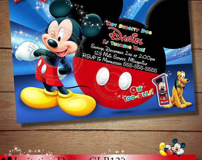 157 best Mickey Mouse Clubhouse Invitation Party Printables