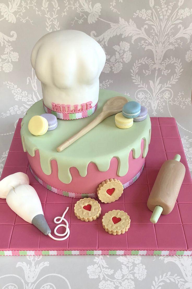 Backen des themenorientierten Chef Hat Cake   – Torten