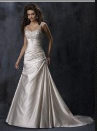 Robe de Mariée des Loisirs Taffetas A-ligne Informelle wb0046