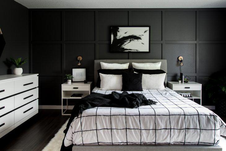 A Monochrome Modern Bedroom Reveal | DIY Room Makeover!