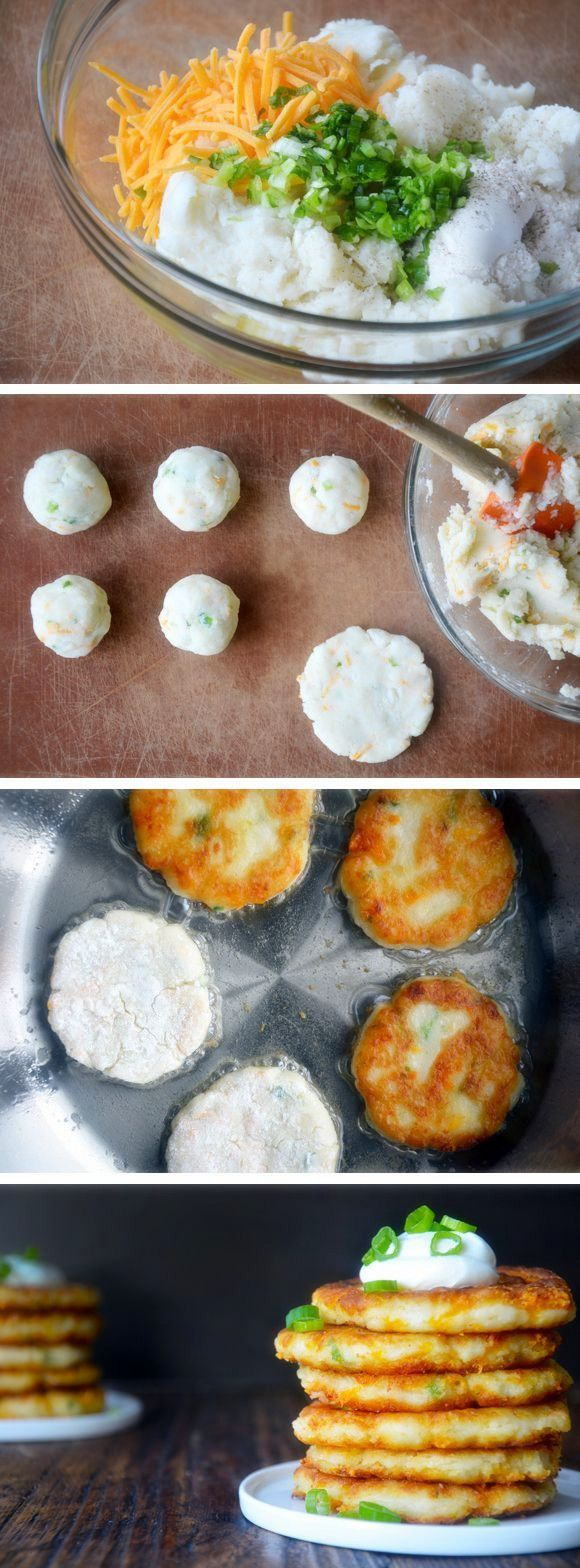 DIY Delicious Cheesy Leftover Mashed Potatoes Pancakes