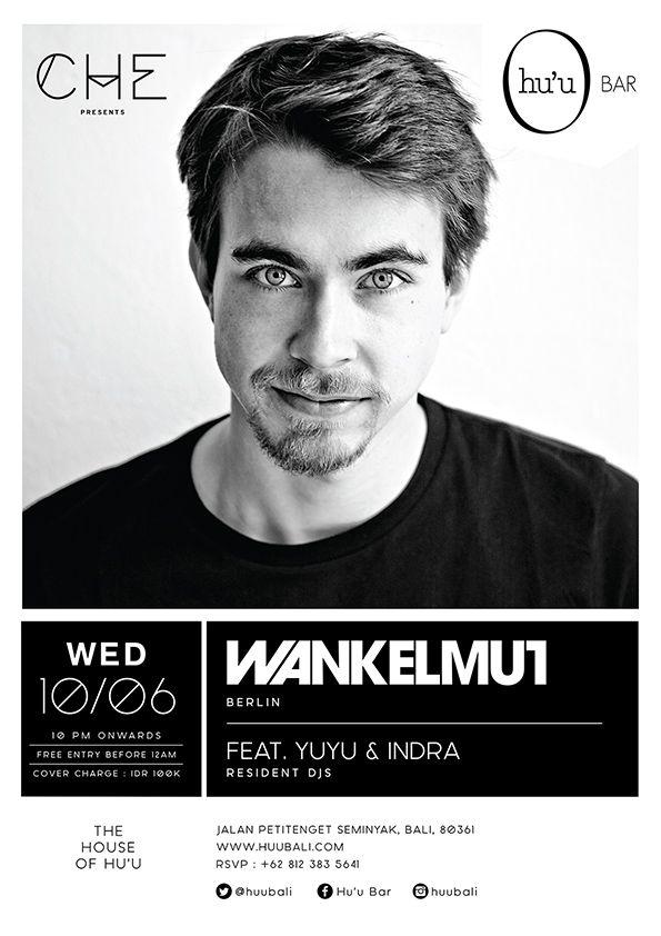 #huubar #wankelmut #party #typography #graphicdesign #flyer #housemusic