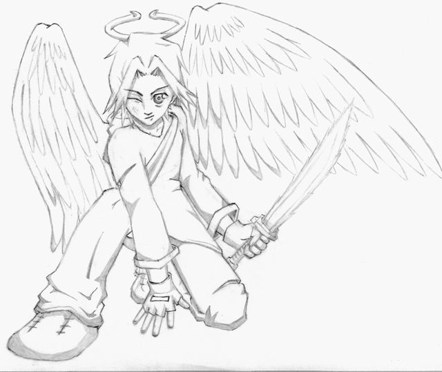 warrior angel coloring pages - photo#8
