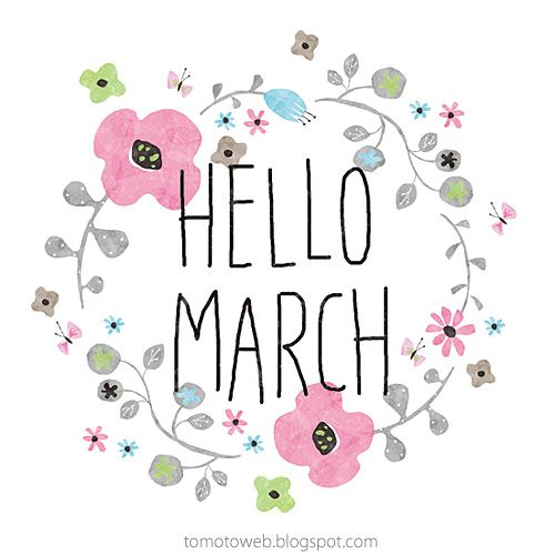 hello march...can't wait to see you...