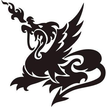 дракон шаблон тату