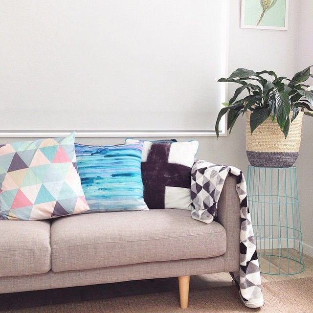 #regram from the super stylish @missaimeefleur - we love how she has styled her #freedomnz Studio 2.5 Seat Sofa in Arena Cement ($799) and Bright Band Basket 2 Handle Small in Grey ($59.95) in her home.