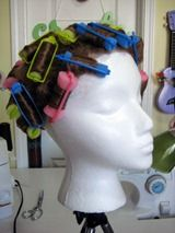Diary of a Renaissance Seamstress: How to straighten or curl a synthetic wig tutorial