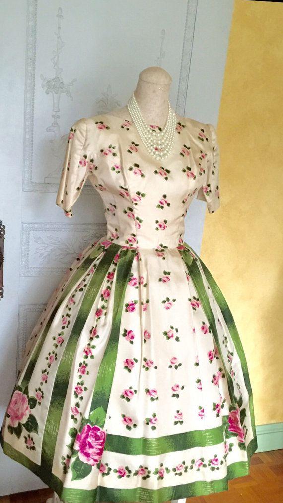 RESERVED 50s Dress/ 1950s Vintage Dress/ by VintageDressUpStore