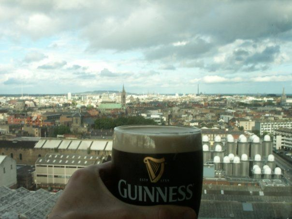 a memorable view. top of the guinness brewery in dublin, ireland.