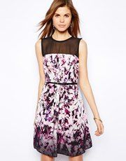 Coast Sonya Dress with Floral Graphic Print
