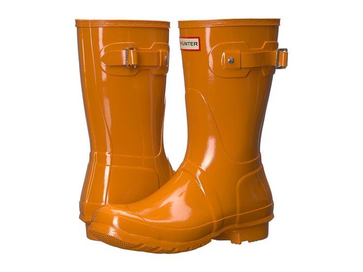 Hunter Orignal Short Gloss Rain Boots Women's Rain Boots Marigold