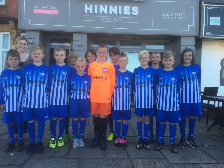 Whitley Bay FC Under 11s - proudly sponsored by Hinnies
