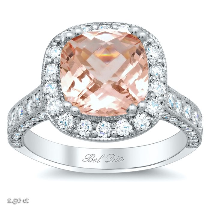 17 Best images about White Gold Morganite Engagement Rings on Pinterest