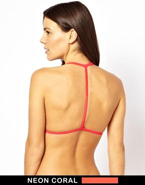 ASOS Mix and Match Moulded Triangle T Back Bikini Top