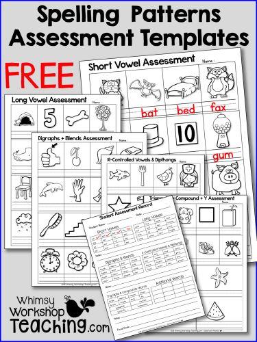 Ideas for reinforcing phonics and spelling patterns - free Spelling Assessment