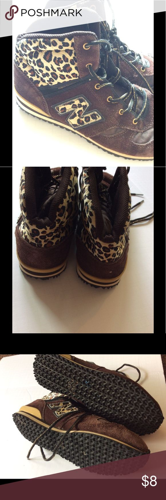 New Balance high top animal print Worn several time, still in great condition! Very cute and comfy, so easy to walk in and even do physical activity. Comment below to save on shipping! New Balance Shoes Sneakers
