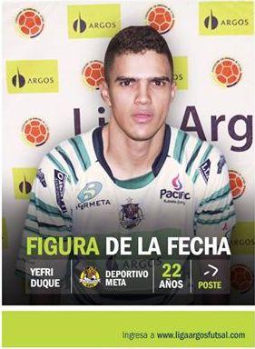 La jerarquía en este tramo del campeonato es fundamental. Esta cualidad hace parte de Yefri Duque del #DeportivoMeta, quien se destacó y es la figura de la fecha 12. #FútbolRevolucionado