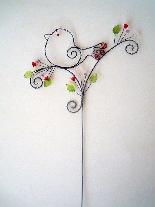 Ptáček na větvičce - zápich