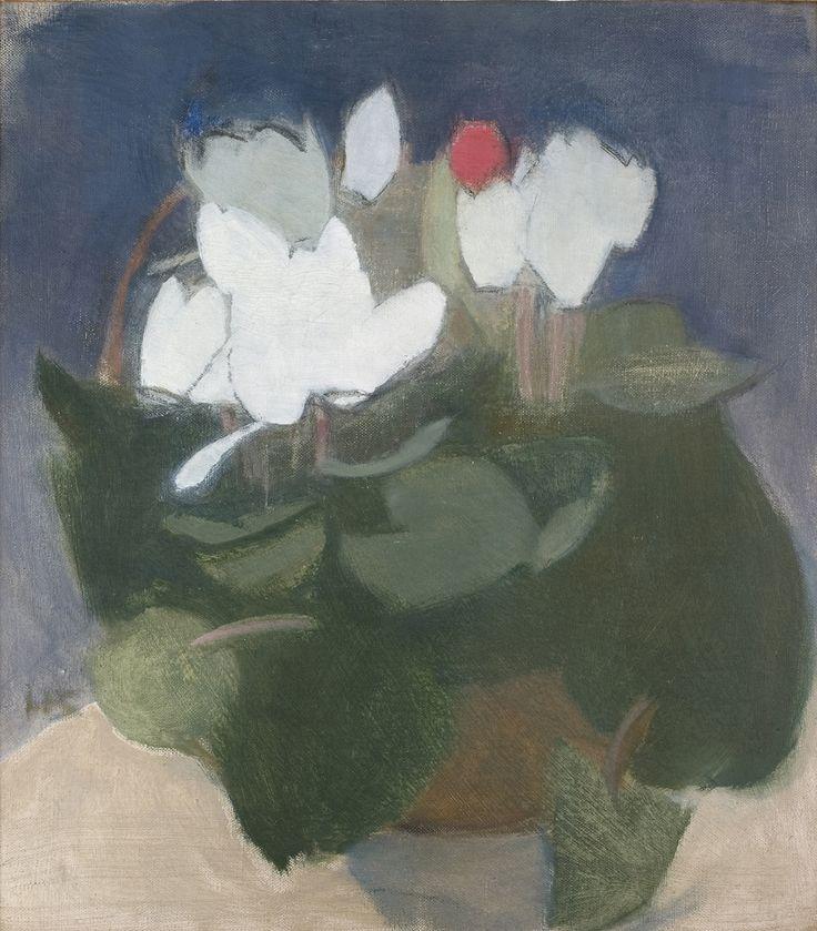 Helene Schjerfbeck - Syklaami maljakossa, 1940, 53 x 48 cm, Didrichsenin taidemuseo, Helsinki