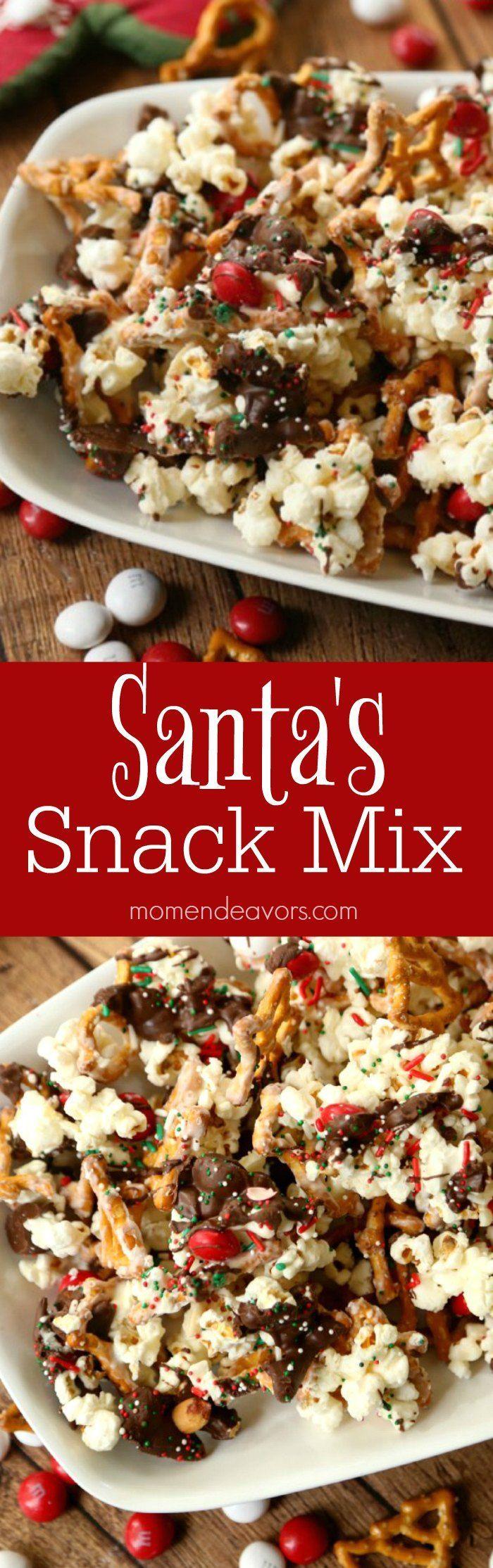 Santa's Sweet & Salty Christmas Snack Mix