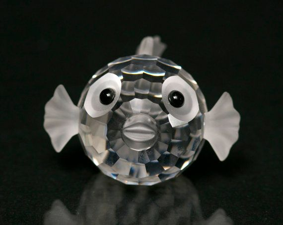Swarovski Crystal Figurine Pufferfish Blowfish by BetterLookBack