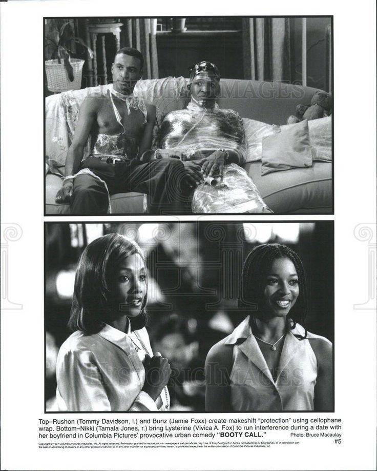 1997 Press Photo Tommy Davidson Jamie Foxx Tamala Jones Vivica Fox Actors Booty