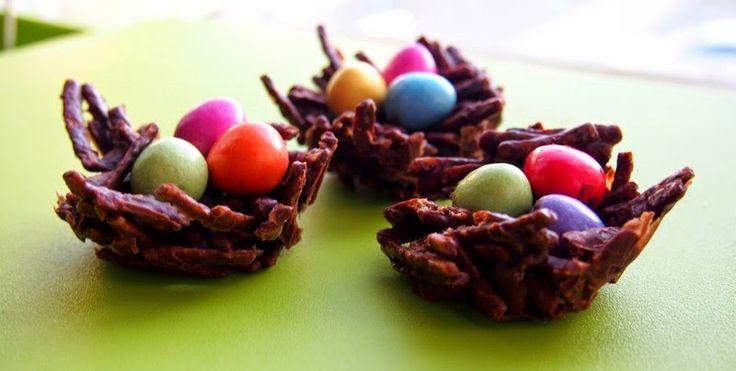 Čokoládová Velikonoční hnízda ~ Kristina Čechová
