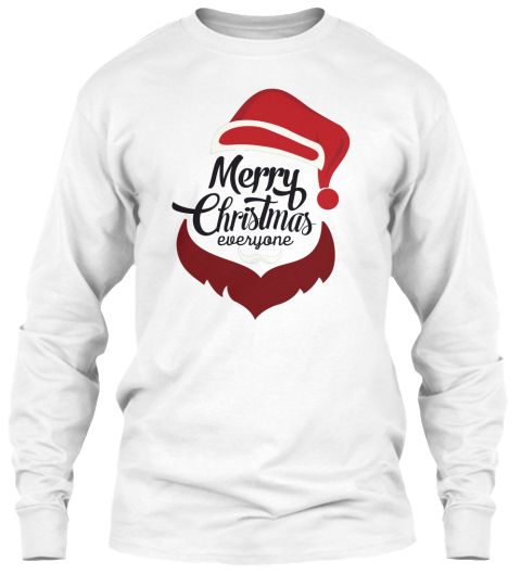 Merry Christams (2017) White Long Sleeve T-Shirt Front