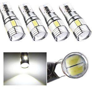 AUDEW 4 x T10 Canbus W5W 5630 6SMD Auto Véhicule Ampoule LED Voiture Lampe 194 168 Blanc Pur(6000-6500k)12V