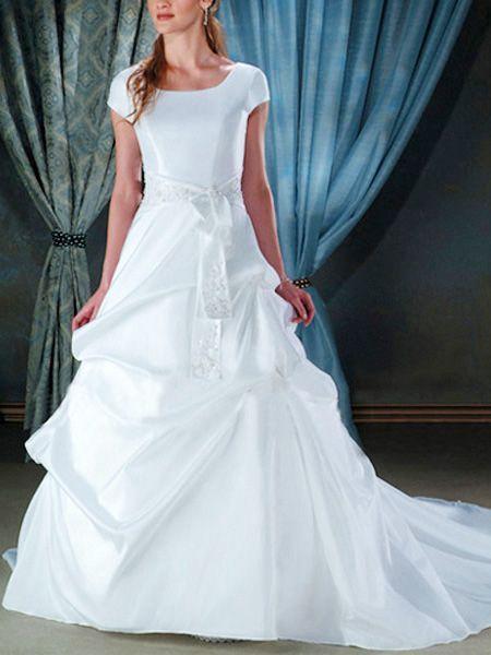 30 best modest wedding dresses images on Pinterest | Short wedding ...