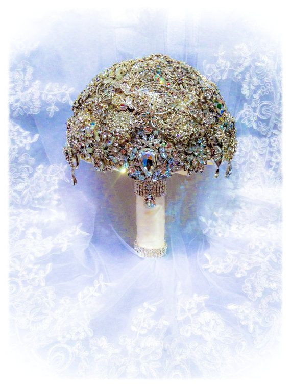 Crystal Brooch Bouquet. Deposit on Crystal Bling by NatalieKlestov, $55.00