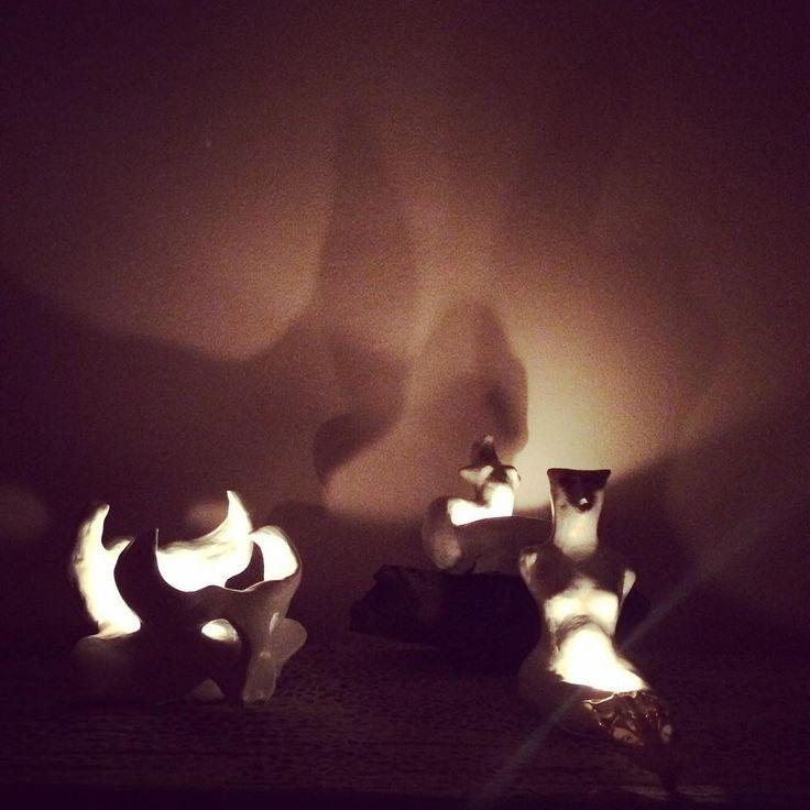 #santons #deamons #lucifer #světlonoš #waitingformiracle #light #ceramics #candlestick #handmade #handmadebyme
