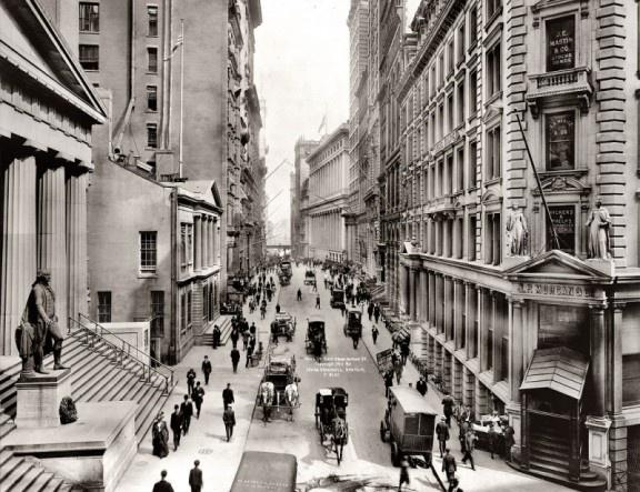 Wall Street, New York City, 1913