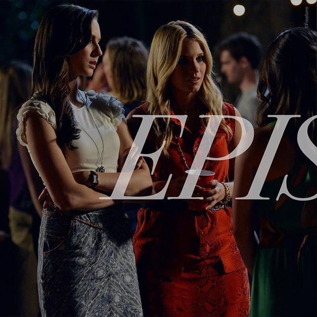 """CeCe invites Aria + Spencer to a party at Noel's cabin... And Spencer brings her college application with her. Typical Spencer. 😏 #PLLMemoryLane  56 of 150 // Season 3, Episode 9: """"The Kahn Game."""" #PLL #PrettyLittleLiars"""