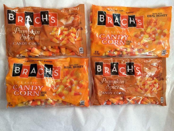 Brach's Candy Corn 4 Bags 2 Classic 11oz & 2 Pumpkin Spice 9oz Bags Seasonal #Brachs